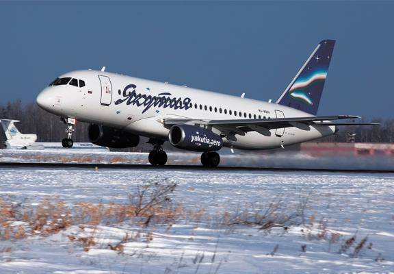 Sukhoi SuperJet 100-95LR авиакомпании Якутия
