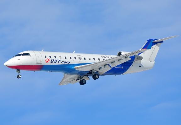 Bombardier CRJ-200 авиакомпании UVT AERO