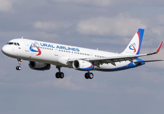 Airbus A321 Уральских авиалиний